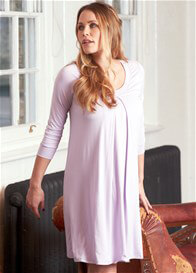 Queen Bee Tahlia Lilac Maternity Nursing Hospital Gown by Floressa