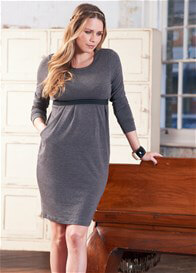 Queen Bee Christa Grey Nursing Dress by Floressa Clothing