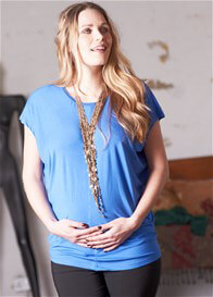 Queen Bee Hailee Blue Batwing Maternity Top by Floressa Clothing