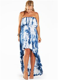 Queen Bee Gypsy Maternity Dress in Navy Tie Dye by Fillyboo