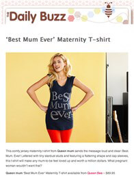 Queen Bee Best Mum Ever Maternity Tee in Blue by Queen mum