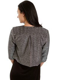 Queen Bee Ruby Maternity Evening Jacket in Silver Shimmer by Everly Grey