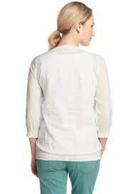 Queen Bee Off-White Maternity Peasant Blouse by Esprit