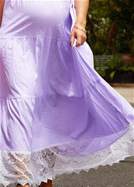 Queen Bee Songbird Maxi Maternity Dress in Lilac by Fillyboo