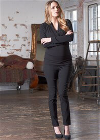 Queen Bee Dion Skinny Black Maternity Pants by Floressa Clothing