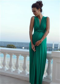 Queen Bee Emerald Green Evening Maternity Maxi Dress by Seraphine