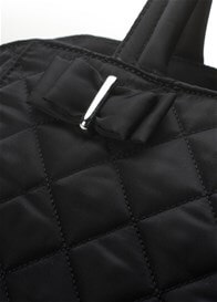 Queen Bee Bobby Quilted Baby Nappy Bag in Black by Storksak
