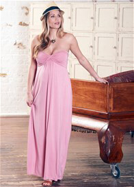 Queen Bee Calista Pink Maternity Nursing Maxi Dress by Floressa Clothing