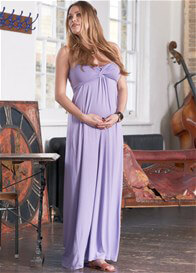 Queen Bee Callie Lilac Maternity/Nursing Maxi Dress by Floressa Clothing