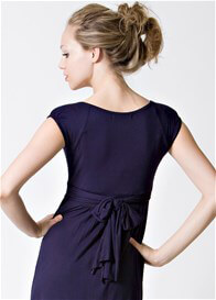 Queen Bee 9th Street Nursing Dress in Navy Blue by Dote Nursingwear
