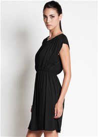 Queen Bee Noir Nursing Dress in Black by Dote Nursingwear