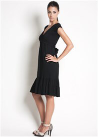Queen Bee 9th Street Nursing Dress in Black by Dote Nursingwear