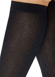 Queen Bee Diamond Pattern Maternity Compression Trouser Socks by Preggers