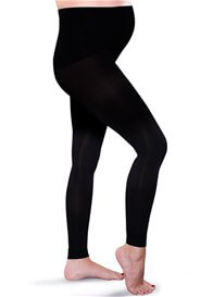 Queen Bee Maternity Light Gradient Compression Leggings in Black by Preggers
