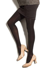 Queen Bee Gradient Compression Maternity Pantyhose in Black by Preggers