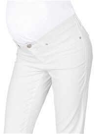 Queen Bee Nikki White Stretch Maternity Capri Jeans by Mavi