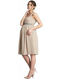 Queen Bee Embellished Maternity Evening Dress by Crave