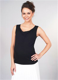 Queen Bee Milkizzy Marie Nursing Top in Black by Pomkin