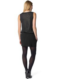Queen Bee Black Sparkle Sleeveless Maternity Tunic by Esprit