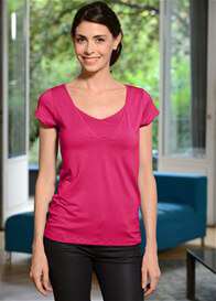 Queen Bee Milkizzy Lise Nursing Top in Fuchsia by Pomkin