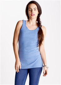 Queen Bee Gabrielle Blue Nursing Tank Top by Trimester Clothing