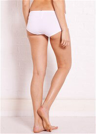 Queen Bee Basic Maternity Underwear Shorts in White by Noppies