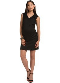 Queen Bee Black Jacquard Maternity Shift Dress by Esprit