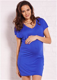 Queen Bee Jules Blue Pocket Maternity Dress by Trimester Clothing