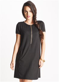 Queen Bee Calla Black Zip Breastfeeding Dress by Floressa Clothing