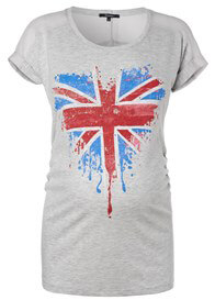Queen Bee London Heart Maternity T-Shirt by Supermom