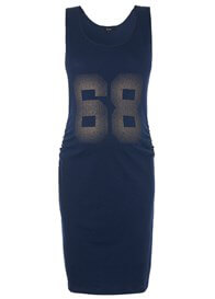 Queen Bee Navy Blue 68 Maternity Tank Dress by Supermom