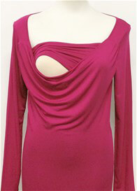 Queen Bee Milkizzy Prisca Breastfeeding Top in Fuchsia by Pomkin