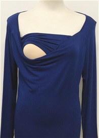 Queen Bee Milkizzy Prisca Breastfeeding Top in Blue by Pomkin