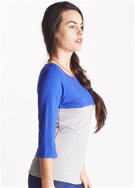 Queen Bee Primrose Blue/Grey Breastfeeding Top by Floressa Clothing