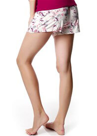 Queen Bee Harmony Cream Bird Print Maternity PJ Shorts by HOTmilk