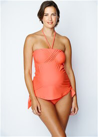 Queen Bee Eva 2 piece Maternity Tankini in Peach by Maternal America