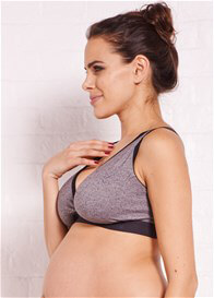 Queen Bee Loryn Grey Print Maternity Nursing Sleep Bra by La Leche League