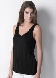 Queen Bee Classic Nursing Tank in Black by Dote Nursingwear