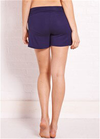 Queen Bee Reagan Blue Foldover Maternity Shorts by Trimester Clothing