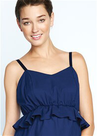 Queen Bee Peplum Maternity Dress in Navy by Maternal America