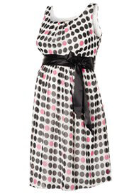 Queen Bee Luna Maternity Party Dress in Charcoal Spot by Noppies