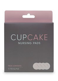 Queen Bee Cupcake Reusable Organic Nursing Pads (2 pairs) by Cake Lingerie
