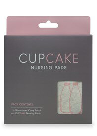 Queen Bee Cupcake Reusable Organic Nursing Pads (3 pairs) by Cake Lingerie