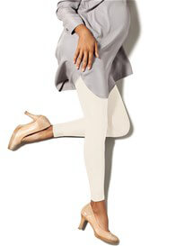 Queen Bee Maternity Compression Footless Tights in Winter White by Preggers