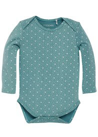 Queen Bee Lisa Baby Romper (2 pack) in Jade Print by Noppies Baby
