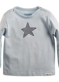Queen Bee Monsieur Blue Star Baby Tee for newborns by Noppies Baby