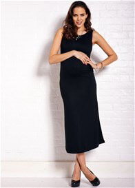Queen Bee Ellery Black Maternity Maxi Dress by Trimester Clothing