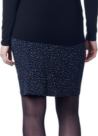 Queen Bee Eva Maternity Skirt In Dark Blue Print by Noppies