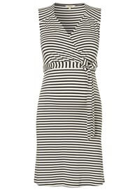 Queen Bee Lara Striped Sleeveless Maternity Nursing Dress by Noppies