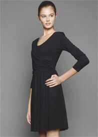 Queen Bee Mara Breastfeeding Dress in Black by Dote Nursingwear